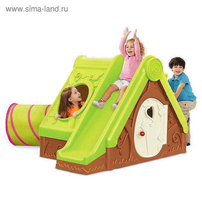 Детский домик с горкой Funtivity, МИКС