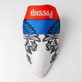 Бандана «Россия», триколор, 50х50 см