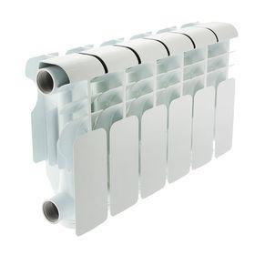 Радиатор алюминиевый Oasis, 200 х 100 мм, 6 секций