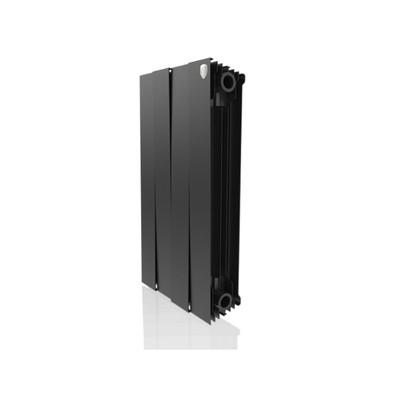Радиатор биметаллический Royal Thermo PianoForte/Noir Sable, 500 x 100 мм, 4 секции, графит