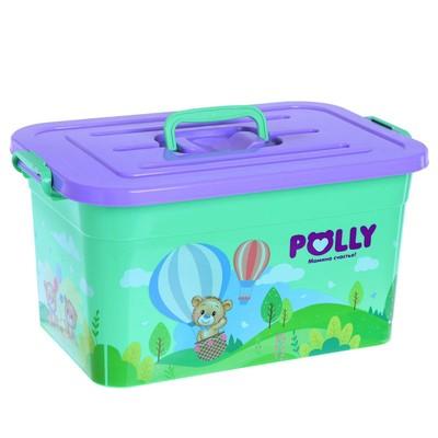 Контейнер для хранения Polly, 15 л, цвета МИКС - Фото 1
