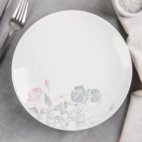 Тарелка мелкая «Серебристые розы», d=22 см