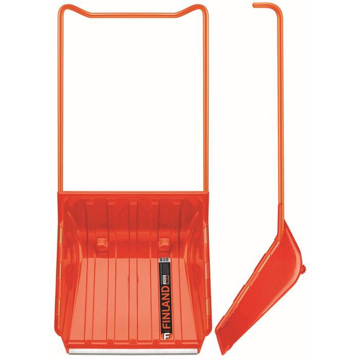 Движок пластиковый «Кенгуру», размер ковша 61 × 66 см, с металлической планкой, на колёсиках
