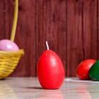 """Свеча-яйцо """"Красное"""""""