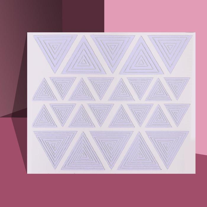 Трафареты для декора Треугольники, 2 вида
