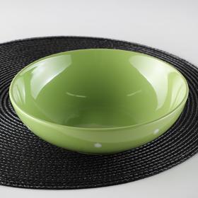 Тарелка суповая Доляна «Зелёный горох», d=18,7 см, 800 мл