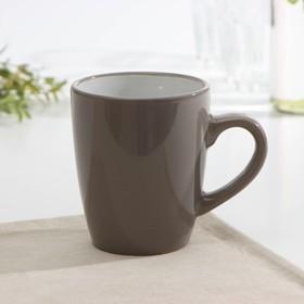 Кружка Доляна «Дымка», 360 мл, цвет коричневый