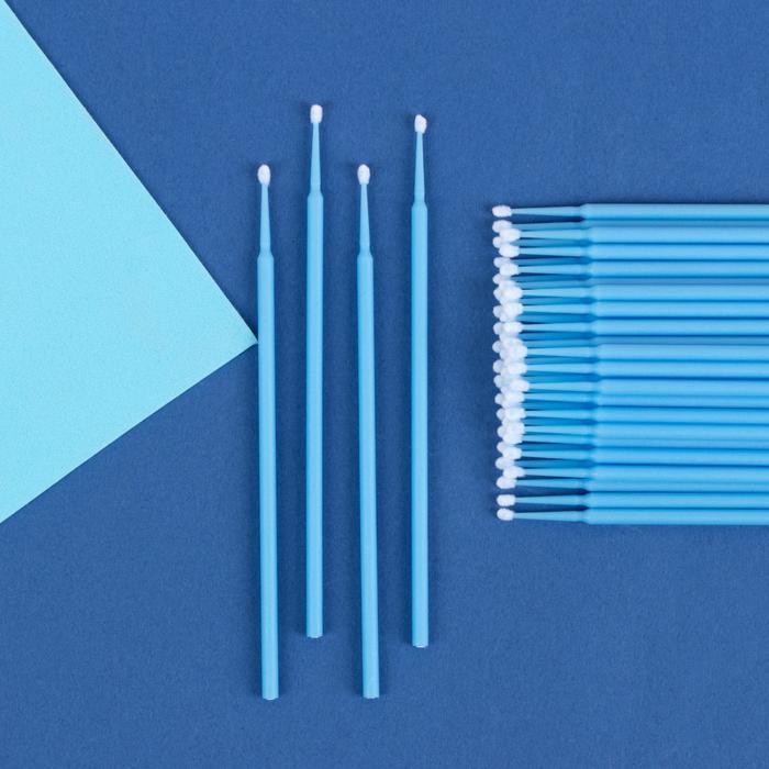 Набор микробрашей для наращивания и ламинирования ресниц, 50 шт, цвет МИКС