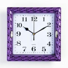 Часы настенные, серия: Интерьер, 'Земляничка', рама микс,  22х22 см, дискретный ход, Ош