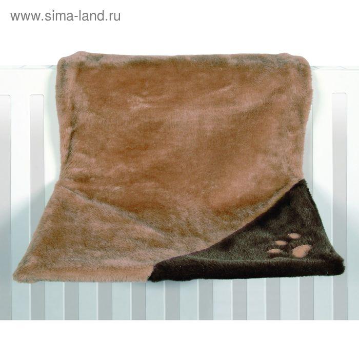 Гамак Trixie для кошки, 45 х 24 х 24 см, св. коричн./коричневый, плюш, на радиатор