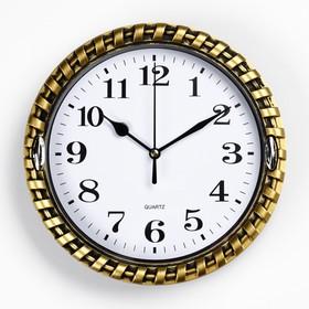 Часы настенные, серия: Классика, круг 'Земляника', рама  микс d=22 см Ош