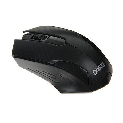 Мышь Dialog MROP-07U Pointer, беспроводная, оптическая, 1200 dpi, 1xAA, USB, чёрная
