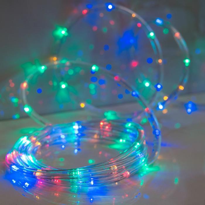 LED шнур 10 мм, круглый, 5 м, чейзинг, 2W-LEDм-24-220V, с контр. 8р, МУЛЬТИ