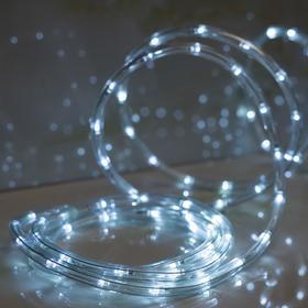 LED шнур 10 мм, круглый, 5 м, чейзинг, 2W-LED/м-24-220V, с контр. 8р, БЕЛЫЙ Ош