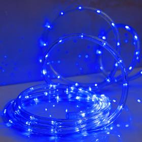 LED шнур 10 мм, круглый, 5 м, чейзинг, 2W-LED/м-24-220V, с контр. 8р, СИНИЙ Ош