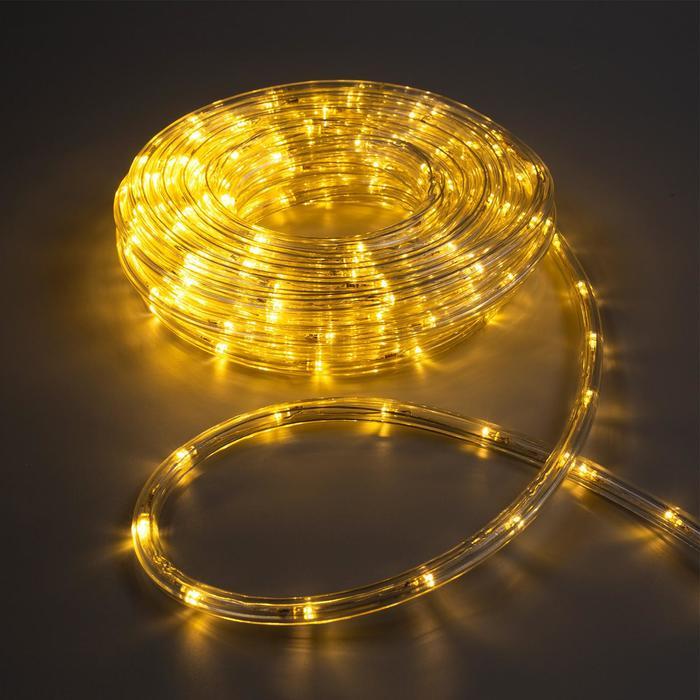 LED шнур 10 мм, круглый, 10 м, чейзинг, 2W-LEDм-24-220V, с контр. 8р, ТБЕЛЫЙ