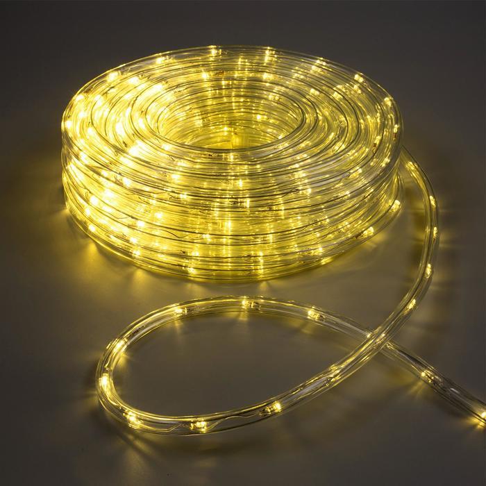 LED шнур 10 мм, круглый, 20 м, чейзинг, 2W-LED/м-24-220V, с контр. 8р, Т/БЕЛЫЙ