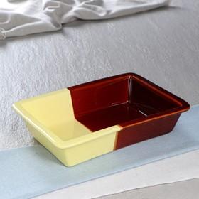 Противень для запекания жёлто-коричневый, 1 л, 25,5 х 18 см Ош