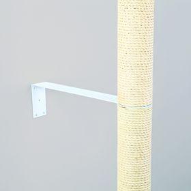 Крепёж на стену Trixie для установки домов для кошек, короткий, металл, 43 × 10 × 5/8 см, белый   18