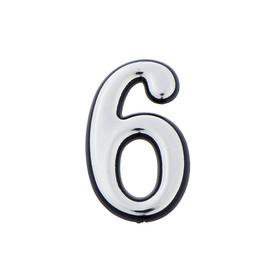 Цифра дверная '6', малая, пластик, самоклеящаяся Ош