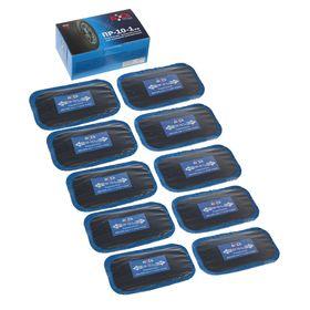 Пластырь резинокордный ПР-10-1 х.в, для радиальных шин, 60x105 мм, 1 слой корда, набор 10 шт. Ош
