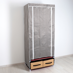 Шкаф для одежды и обуви 75×45×175 см, 2 ящика, цвет МИКС Ош