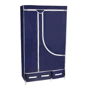 Шкаф для одежды и обуви 95×45×165 см, 3 ящика, цвет синий Ош