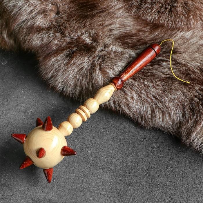 Сувенирное деревянное оружие Булава, 34 см, микс