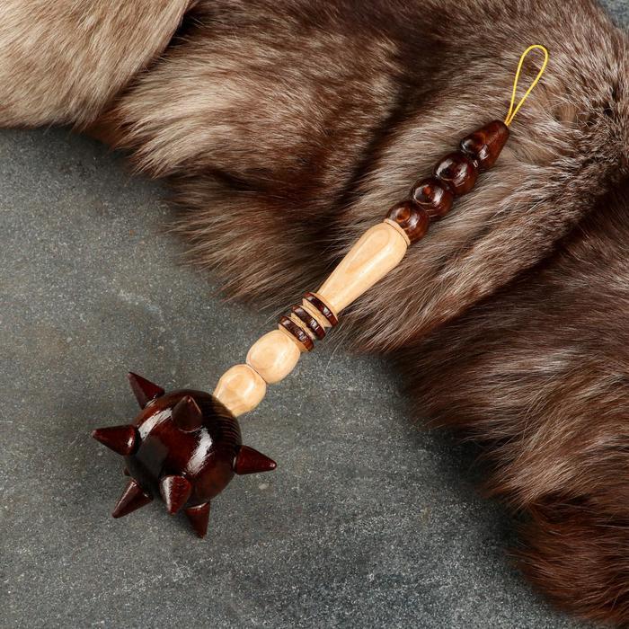 Сувенирное деревянное оружие Булава, 26 см, микс
