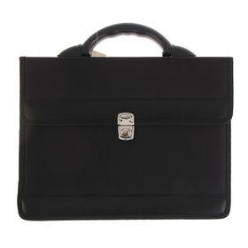 Портфель деловой ткань 350 х 260 х 100 мм,'Приморск', чёрный Ош