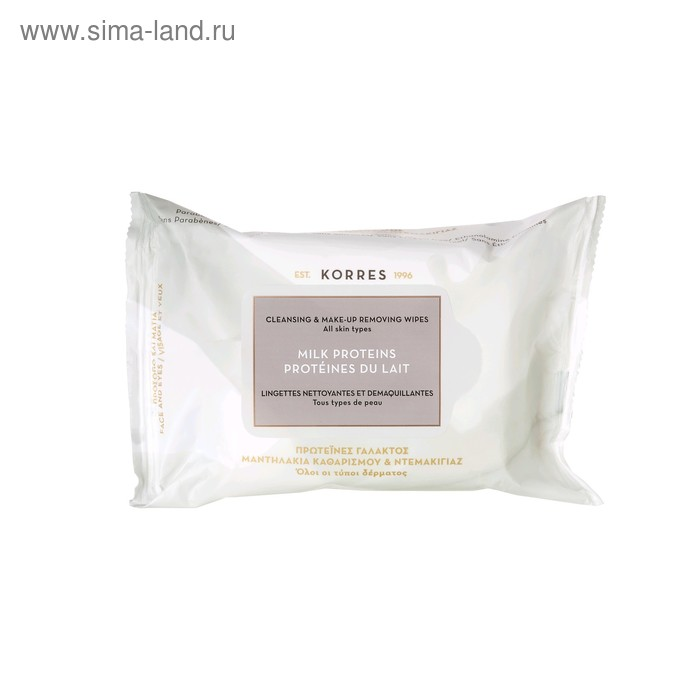 Салфетки для снятия макияжа Korres «Ежедневное очищение», для всех типов кожи, 25 шт.