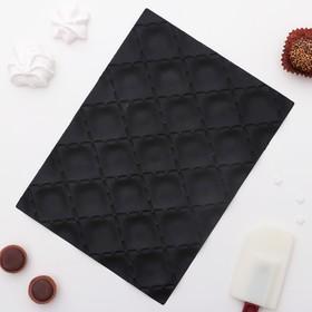Коврик текстурный 25х18х0,5 см 'Метлассе', цвет черный Ош