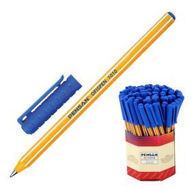 """Ручка шариковая масляная Pensan """"Officepen"""", чернила синие, корпус оранжевый, 1 мм, линия 0,8 мм"""