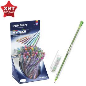 "Ручка шариковая масляная Pensan ""My-Tech Colored"", 8 ярких цветов, микс, 0,7 мм, дисплей"