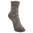 Носки детские шерстяные Фактурная вязка, цвет серый, размер 16