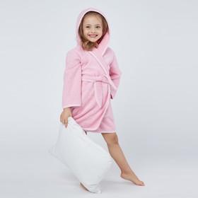 Халат махровый для девочки, рост 104-110 см, цвет розовый К07 Ош