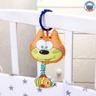 Подвеска мягкая «Котик с рыбкой» на кроватку/коляску, цвет МИКС - Фото 3