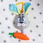Подвеска мягкая «Зайка с морковкой» на кроватку/коляску, цвет МИКС - Фото 4