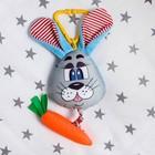 Подвеска мягкая «Зайка с морковкой» на кроватку/коляску, цвет МИКС - Фото 3