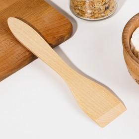 Лопатка деревянная 210х45х4 мм 'Берёза ЛЮКС' в евро-слоте Ош