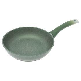 Сковорода, d=22 см, антипригарное покрытие, фисташковый мрамор