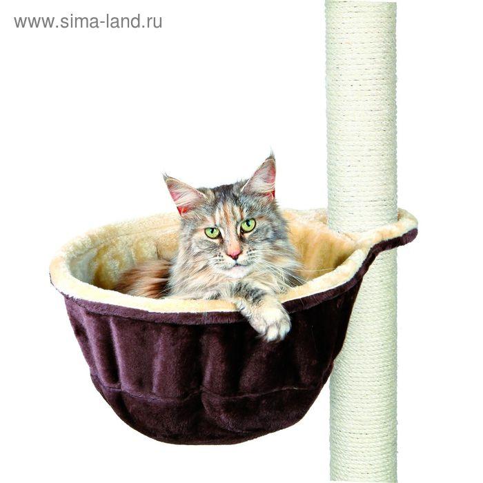 Гамак Trixie для кошки с креплением на когтеточку, ø 38 см, бежевый/коричневый