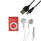 Цифровой MP3-аудиоплеер Perfeo Music Clip Titanium, бордовый