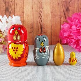Матрёшка «Курочка и золотое яйцо», 4 в 1, МИКС