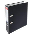 Папка-регистратор А4, 70 мм, «Стандарт», разборный, чёрный, этикетка на корешке, металлический кант, картон 2 мм, вместимость 450 листов