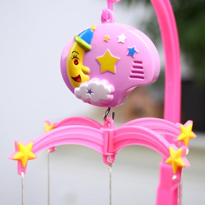 Мобиль музыкальный «Мой ангел», 4 игрушки, заводной, цвет МИКС