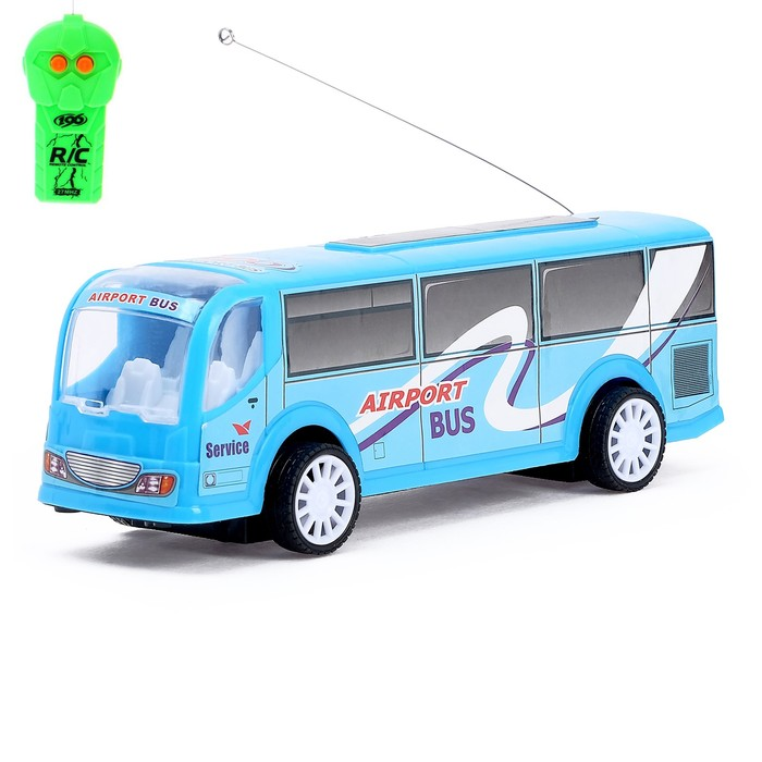 """Автобус радиоуправляемый """"Служба доставки"""", световые эффекты, работает от батареек, МИКС"""