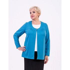 Блузка женская, размер 58, цвет бирюза