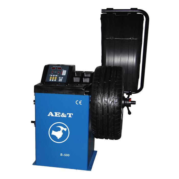 "Cтенд балансировочный AE&T B-500, ручной ввод, d диска 10-24"", ширина 1.5-20 "", до 65 кг"