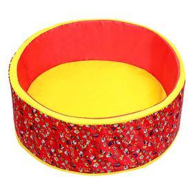 Сухой бассейн «Весёлая поляна», цвет красный